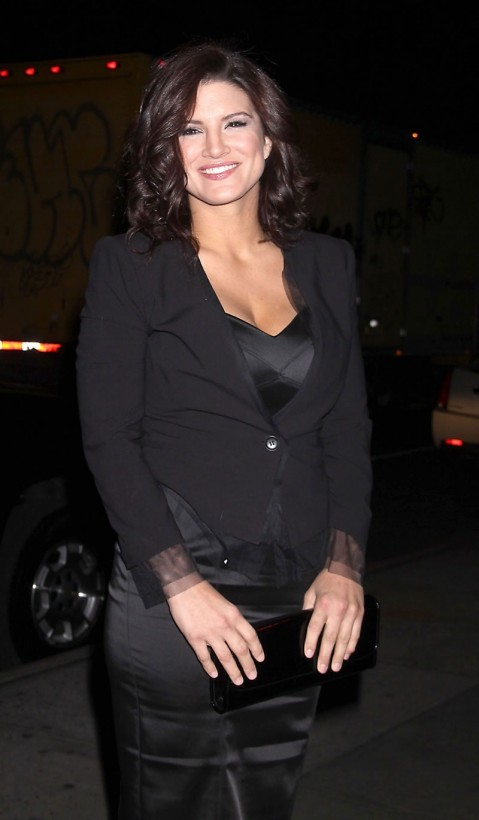 Gina Carano At The Landmark Sunshine Cinema In New York Beach