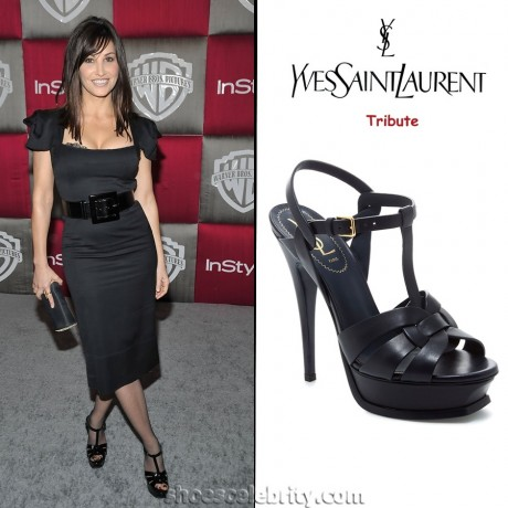 Gina Gershon Yves Saint Laurent Tribute Platform Sandals