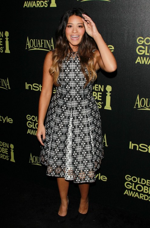 Gina Rodriguez At Hfpa Abd Instyle Celebrate Golden Globe Award Season In Hollywood