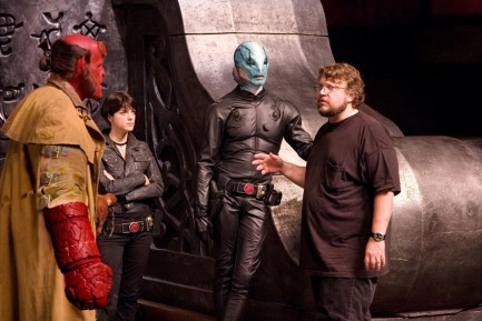 Picture Of Ron Perlman Selma Blair Doug Jones And Guillermo Del Toro In Hellboy Ii The Golden Army Large Picture