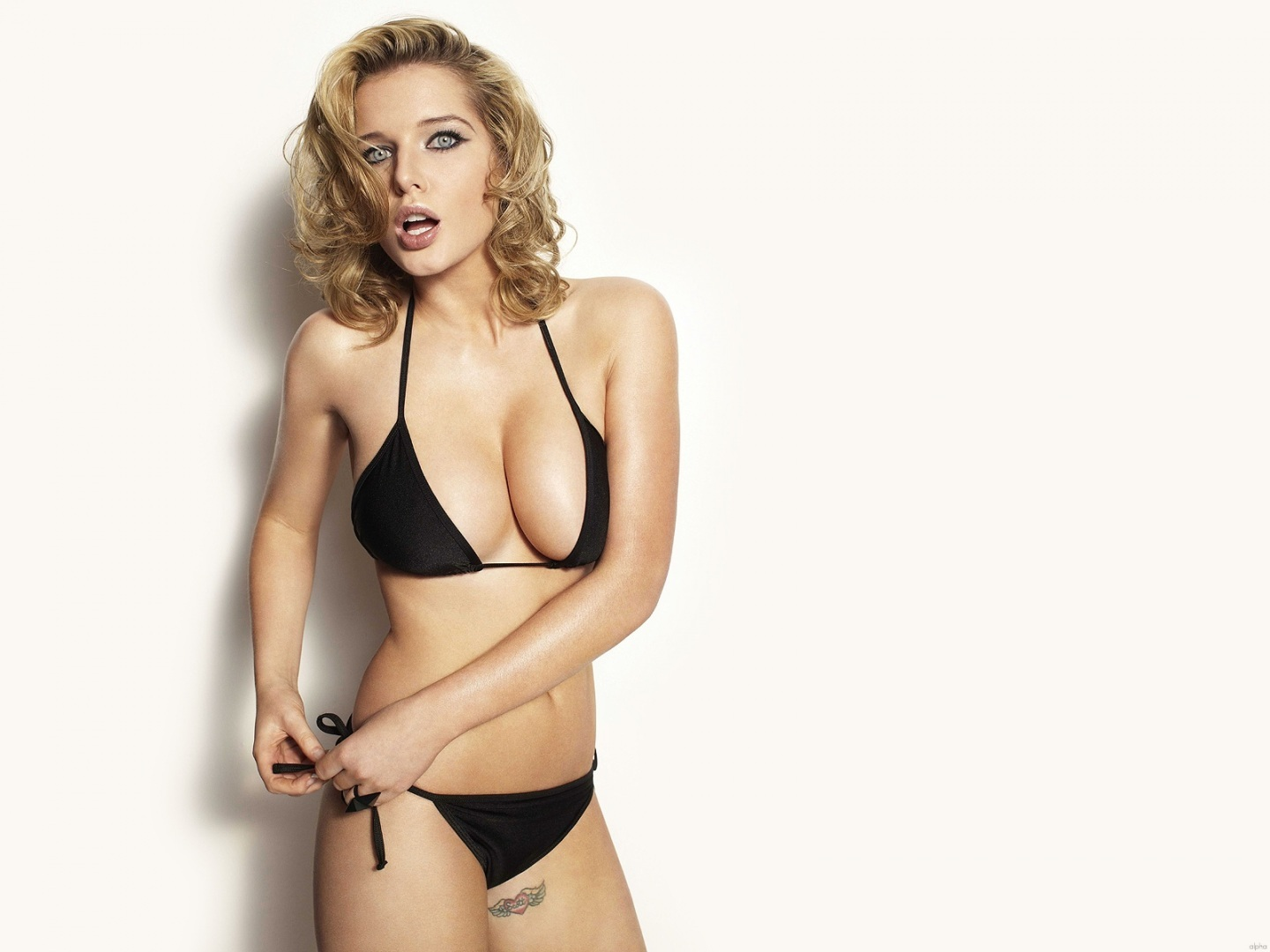 Helen Flanagan Black Bikini Photoshoot