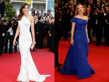 Hilary Swank Jessica Chastain Versace Cannes