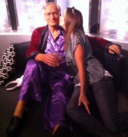 Hugh Hefner At Wax Museum