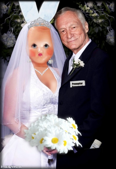Hugh Hefner Marries Plastic Doll