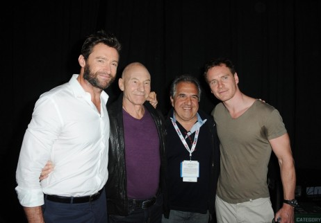 Patrick Stewart Hugh Jackman And Michael Fassbender At Event Of Men Days Of Future Past Large Picture