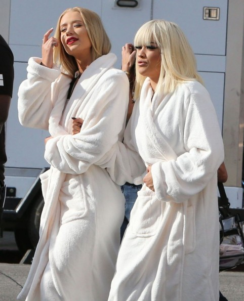 Iggy Azalea And Rita Ora On Set Of Black Widow Music Video Music