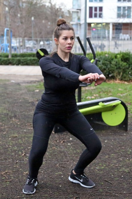 Imogen Thomas Outdoor Workout
