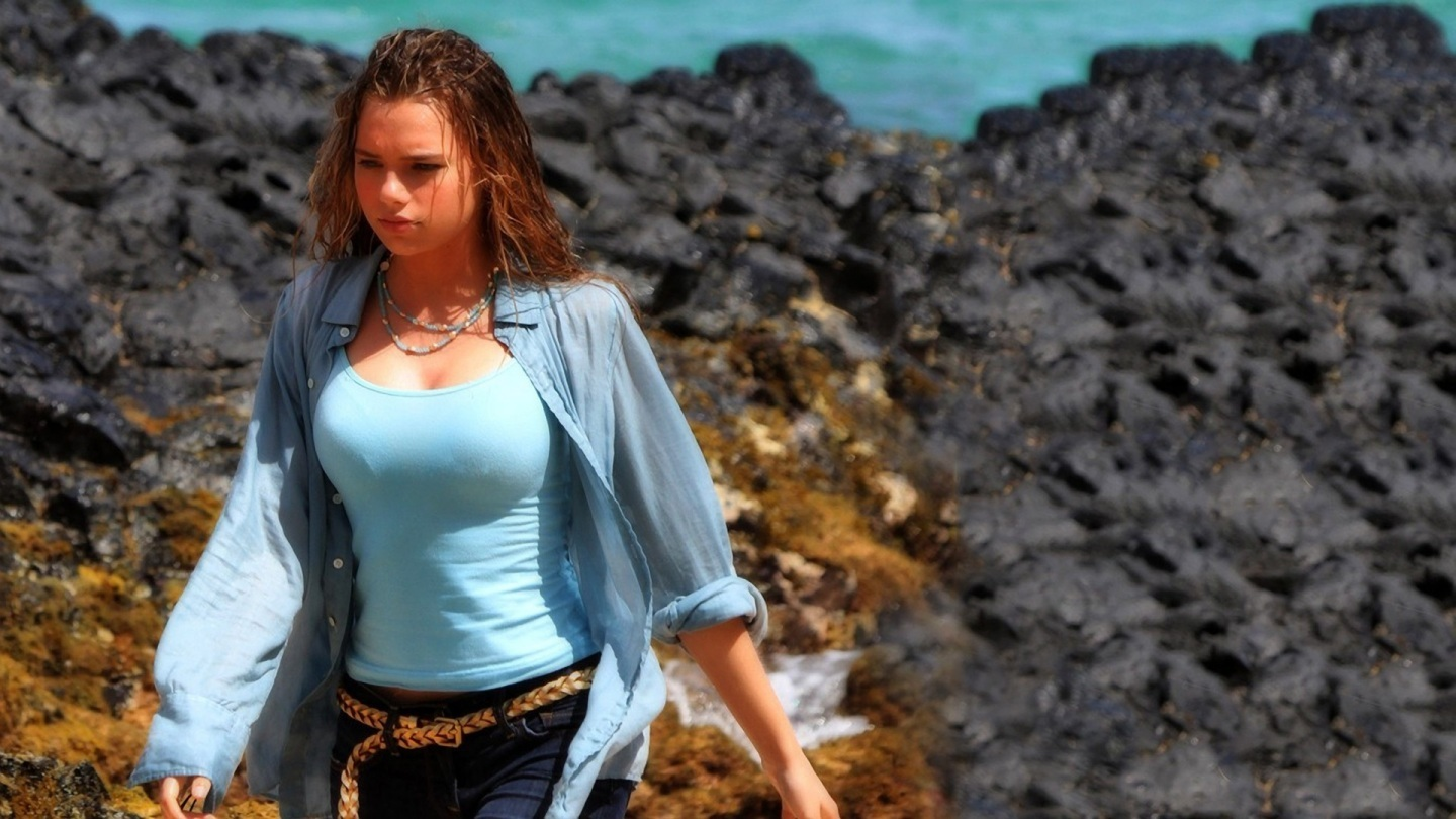 Indiana Evans Celebrity Hd Wallpaper Beach