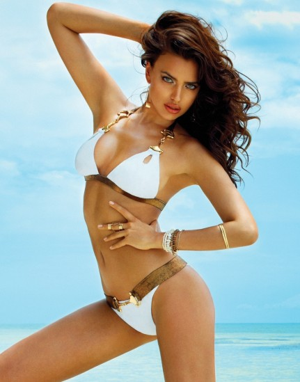 Irina Shayk In Beach Bunny Signature Collection
