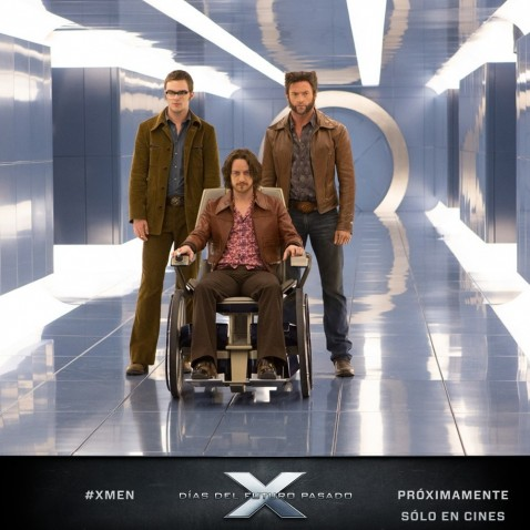 Official Photo Men Days Of Future Past Nicholas Hoult Beast James Mcavoy Charles Xavier Hugh Jackman Wolverine