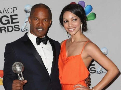 Still She Finds Time To Attend Awards Ceremonies With Her Famous Dad Here She Is This Year At The Th Naacp Awards Where Foxx Took Home Entertainer Of The Year Daughter