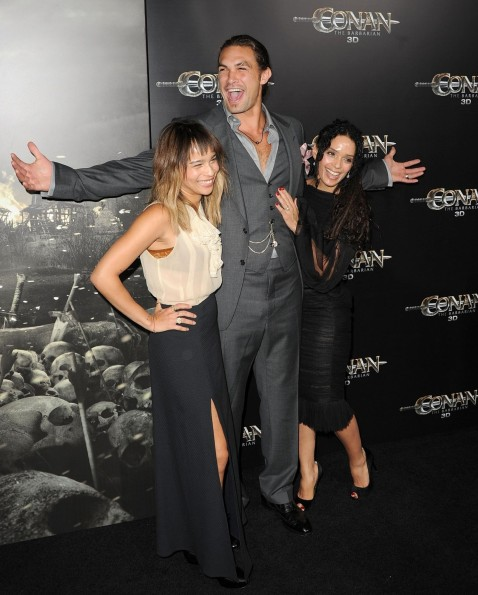 Lisa Bonet And Jason Momoa At Event Of Conan The Barbarian Lisa Bonet