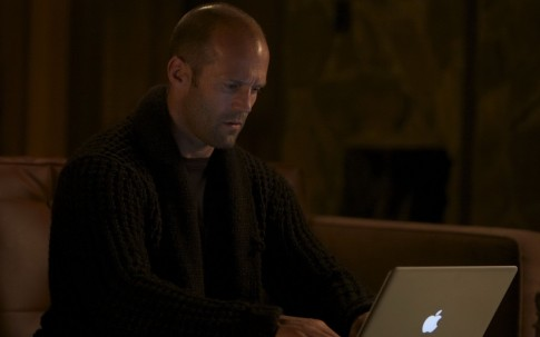 Jason Statham With Apple Laptop