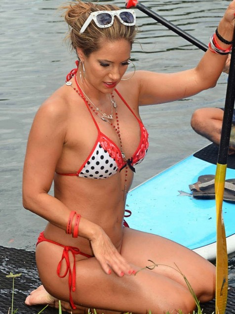 Jennifer Nicole Lee Paddleboarding In Bikini