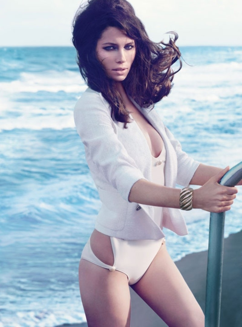 Jessica Biel Magazine April Beach