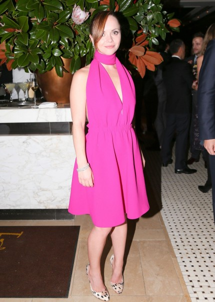 Christina Ricci At The Harry Winston Dinner For Jessica Chastain In New York Beach