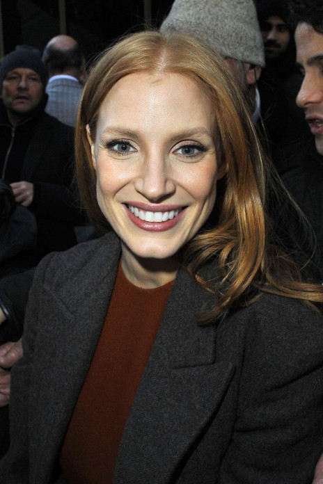 Jessica Chastain And Olivia Wilde At Calvin Klein Fashion Show In New York Fashion