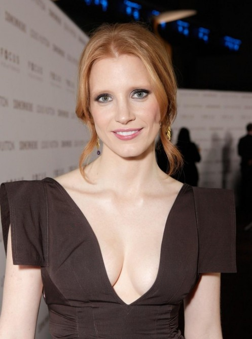 Popular Hollywood Actress Jessica Chastain Sexy