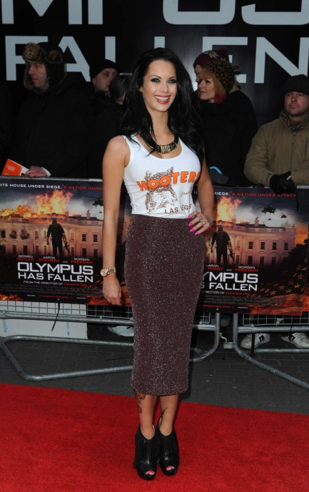 Jessica Jane Clement At Olympus Has Fallen Premiere In London
