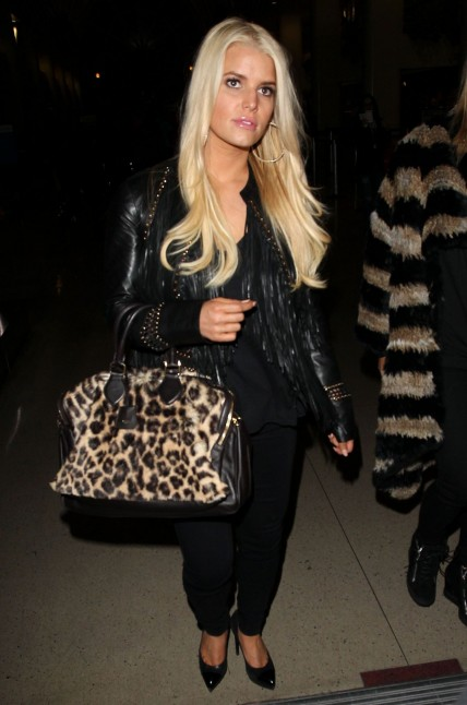 Jessica Simpson At The Los Angeles International Airport January
