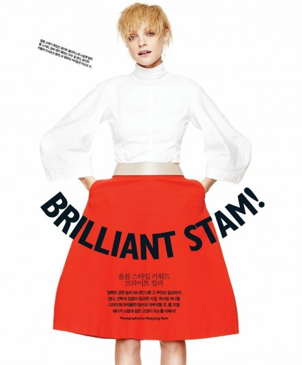 Jessica Stam By Hong Jang Hyun Brilliant Jessica Singles Korea March