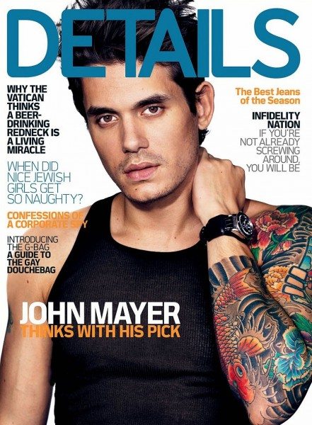 John Mayer Rolex Cover Of Details Magazine December