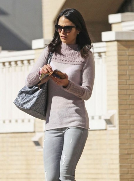 Jordana Brewster Street Style Out In Beverly Hills January