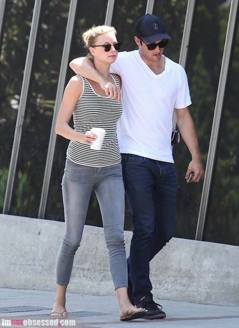 Emily Vancamp And Josh Bowman Enjoy The Afternoon And Scarlett Bowman
