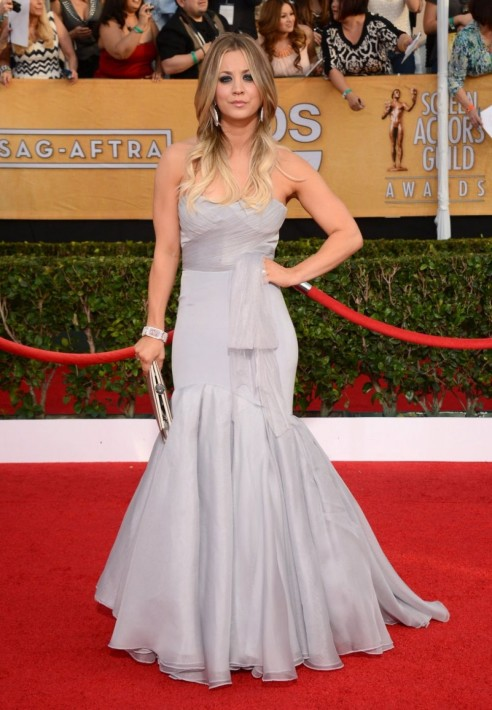 Kaley Cuoco At Sag Awards In Los Angeles Fashion