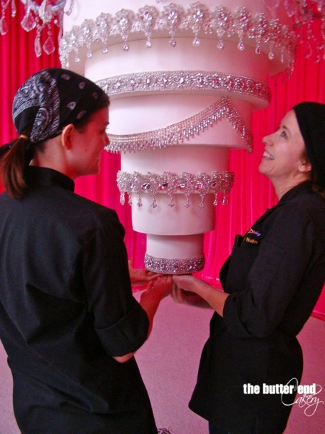 The Butter End Cakery Kaley Cuoco Upside Down Chandelier Wedding Cake Wedding