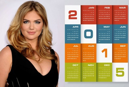 Kate Upton Black Dress Wallpaper Calendar