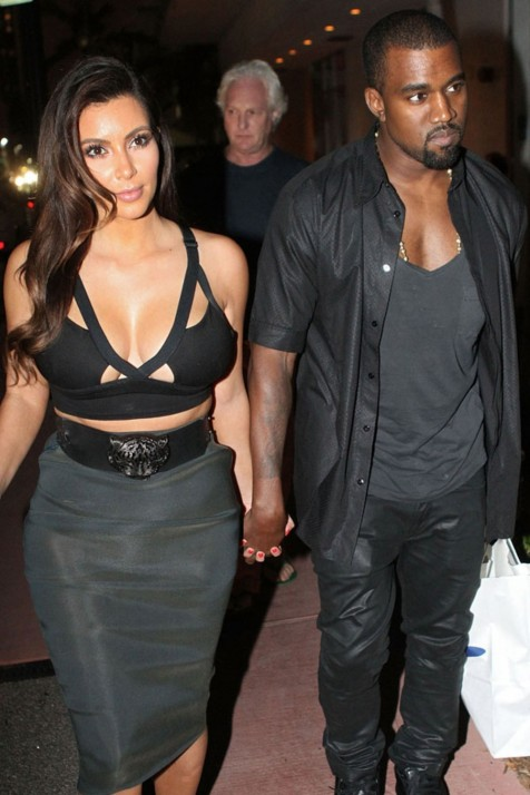 Kim Kardashian And Kanye West And Kanye West
