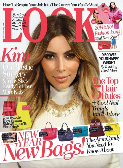 Kim Kardashian Look Magazine January Cover