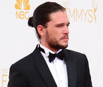 Kit Harrington Man Bun Emmy Fashion