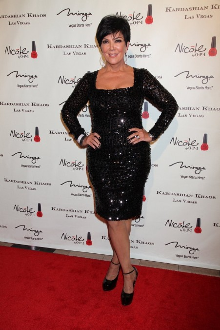 Kris Jenner Black Sequin Dress