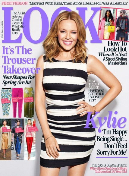 Kylie Minogue In Look Magazine January Issue