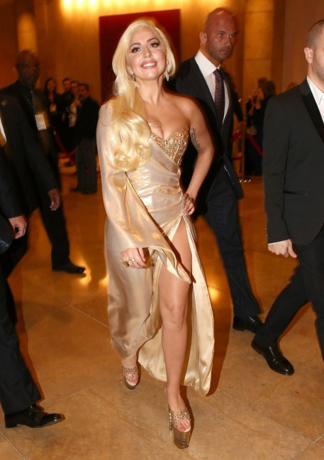Lady Gaga Golden Globes After Party In Beverly Hills