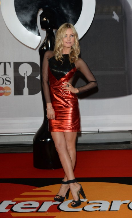 Laura Whitmore At The Brit Awards In London
