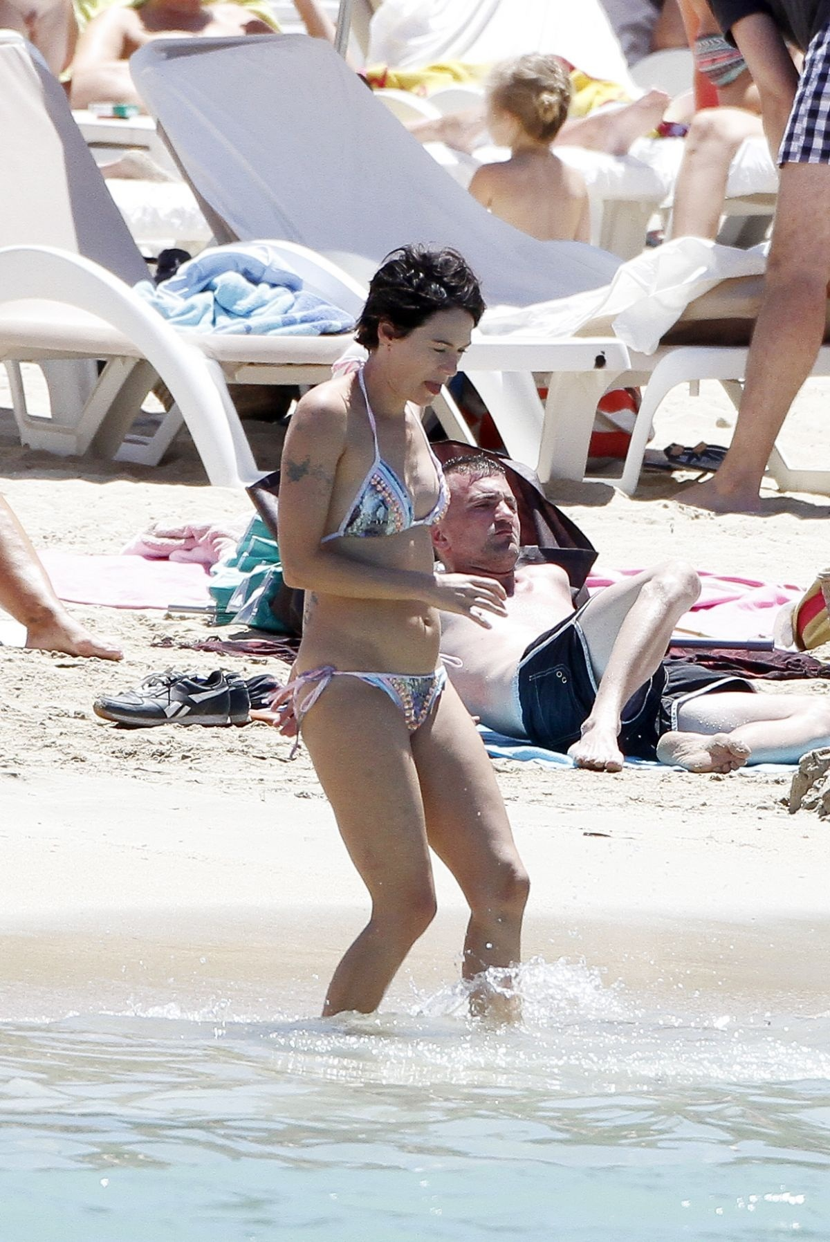 Lena Headey In Bikini At Beach In Ibiza Beach