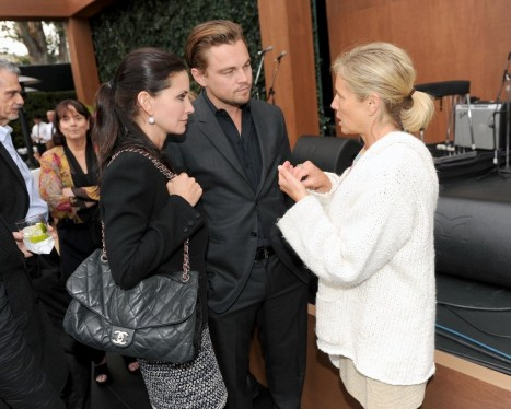 Leonardo Dicaprio Mingled Friend Courteney Cox Event