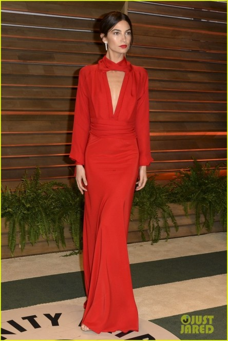 Lily Aldridge Vanity Fair Oscar Party Pic Beach