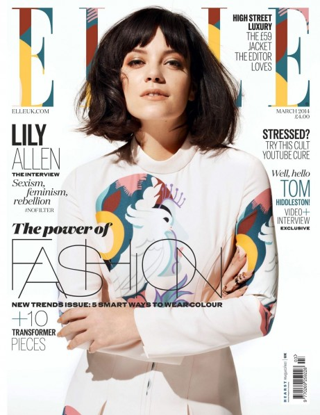 Lily Allen In Elle Magazine Uk March Issue