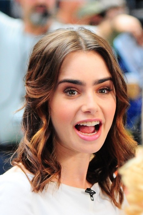 Lily Collins Gma Nyc Hot
