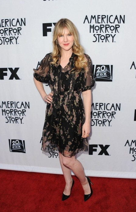 Lily Rabe Promoting Her Show American Horror Story Private Screening Black Dress Lily Rabe Promoting Her Show American Horror Story Private Screening