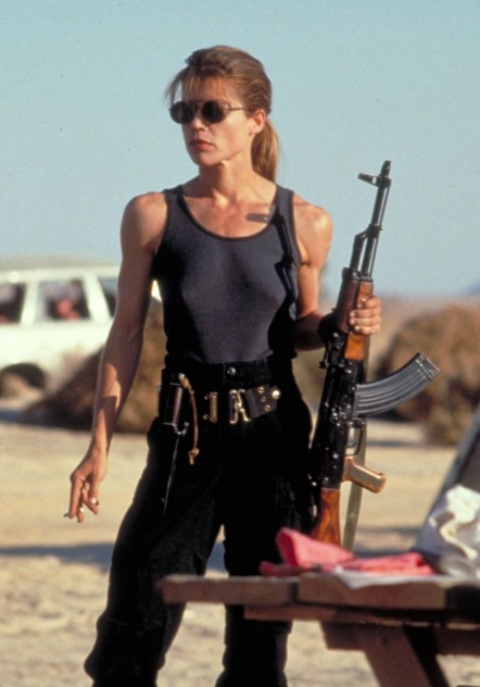 Linda Hamilton In Terminator Judgment Day Movie Image Body