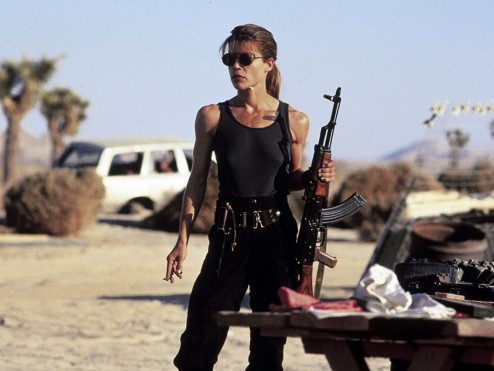 Terminator Linda Hamilton Sarah Connor Wallpaper