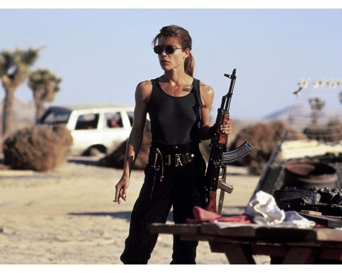 Terminator Linda Hamilton Sarah Connor Wallpaper Movies