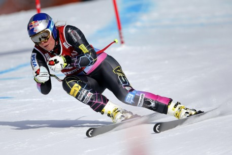 Lindsey Vonn In Super Action At Lake Louise Skiing