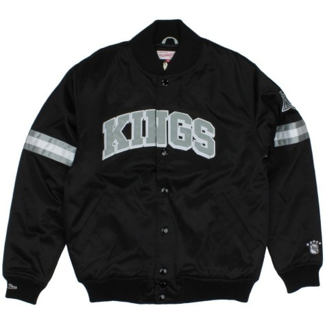 Los Angeles Kings Nhl Team Colors The Backup Satin Jacket By Mitchell And Ness