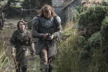 Maisie Williams As Arya Stark Rory Mccann As Sandor The Hound Clegane Photo Helen Sloan Hbo Movies